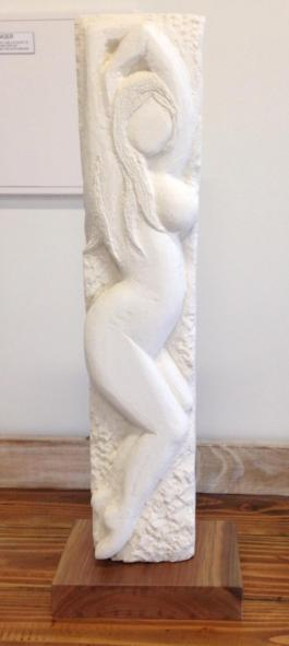 Limestone Sculpture, recycled Australian Spotted Gum